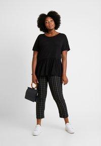 New Look Curves - PEPLUM HEM TEE 2 PACK - T-shirt imprimé - grey - 1
