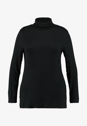 SIDE SPLIT ROLL NECK - Longsleeve - black