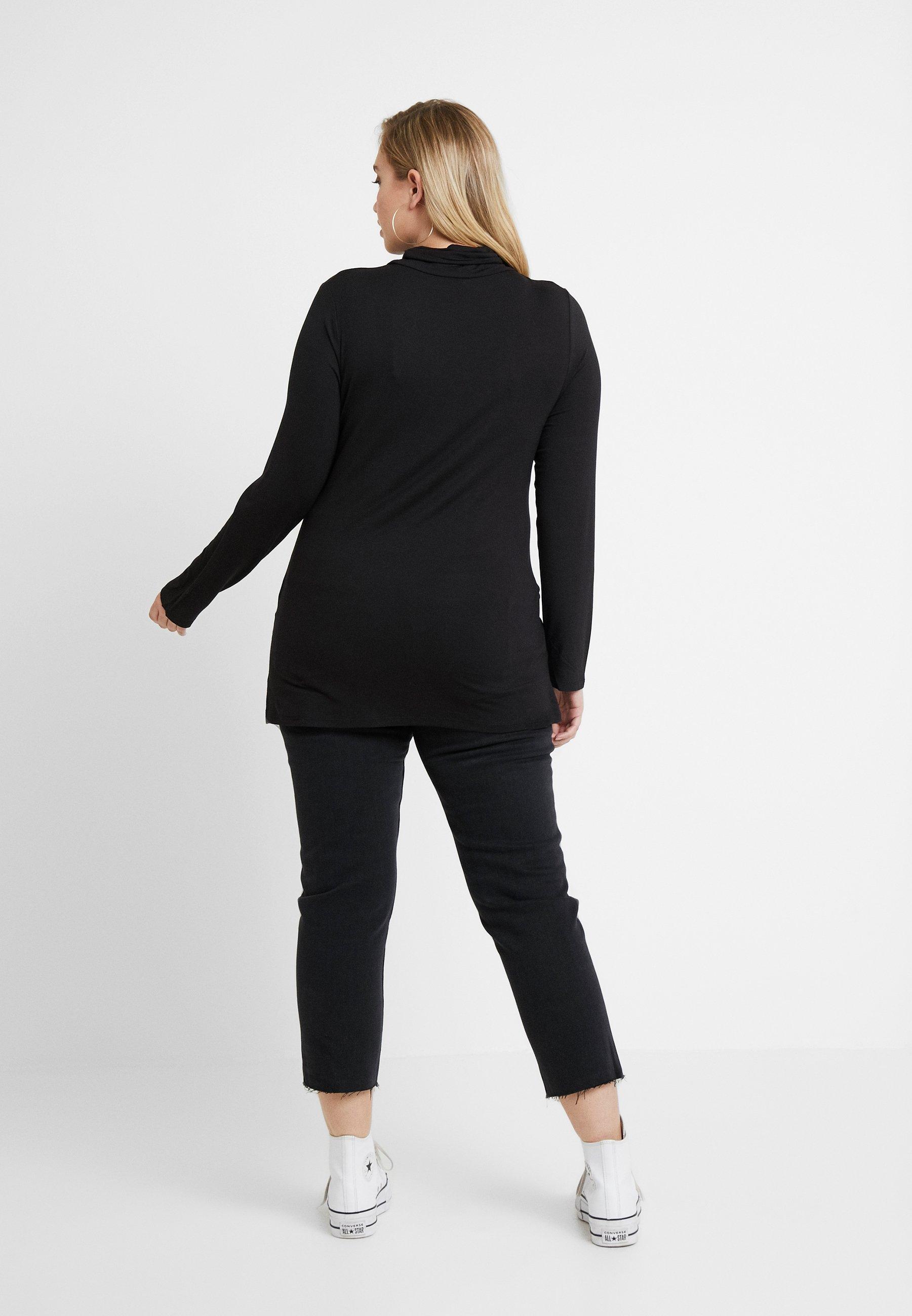 New Look Curves SIDE SPLIT ROLL NECK - Topper langermet - black