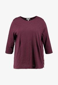 New Look Curves - SIDE BUTTON - Top sdlouhým rukávem - dark burgundy - 4