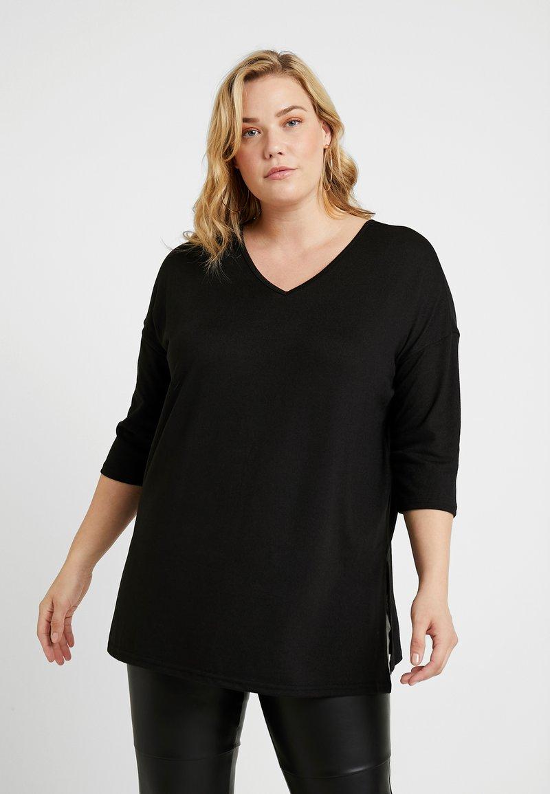 New Look Curves - BELLA V NECK - Jersey de punto - black