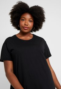 New Look Curves - LONGLINE TEE 2 PACK - T-shirts - black - 3