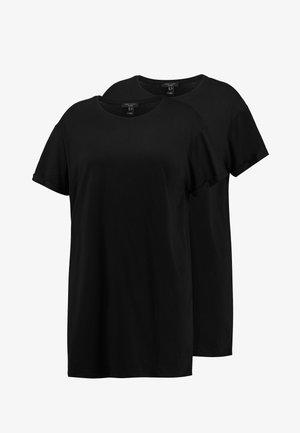 LONGLINE TEE 2 PACK - Basic T-shirt - black