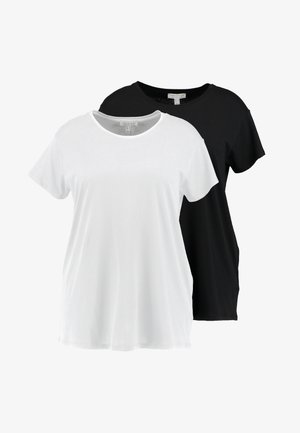 BOYFRIEND TEE 2 PACK - T-shirts med print - black