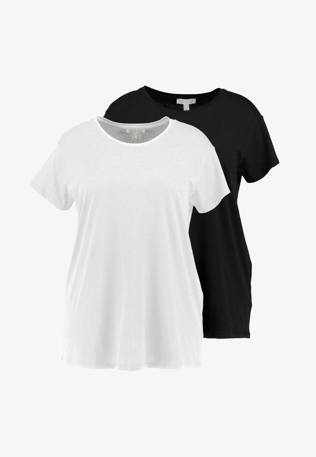 BOYFRIEND TEE 2 PACK - Print T-shirt - black