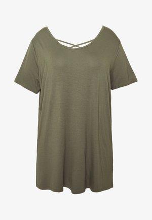 LATTICE BACK TUNIC - T-shirt con stampa - khaki