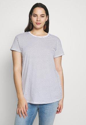STRIPE BOYFRIEND TEE - Camiseta estampada - white
