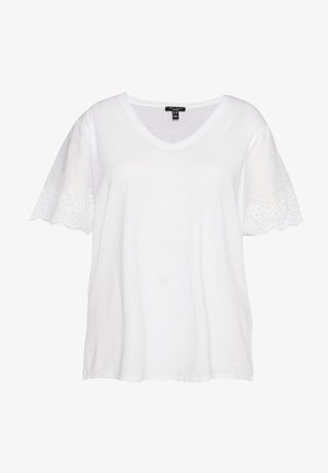 BRODERIE TEE - T-shirt con stampa - white