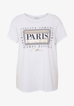 PARIS TEE - Print T-shirt - white