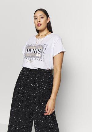 PARIS TEE - Print T-shirt - white