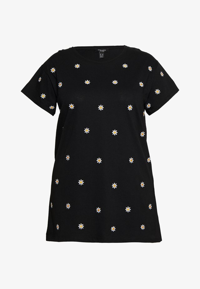 DAISY TEE - Print T-shirt - black