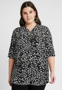 New Look Curves - SPOT ZIP FRONT - T-shirt con stampa - black - 0