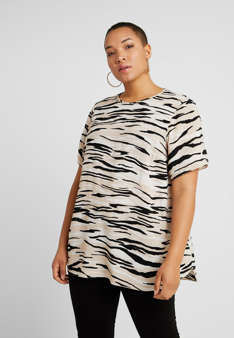New Look Curves - ZEBRA - Bluse - brown