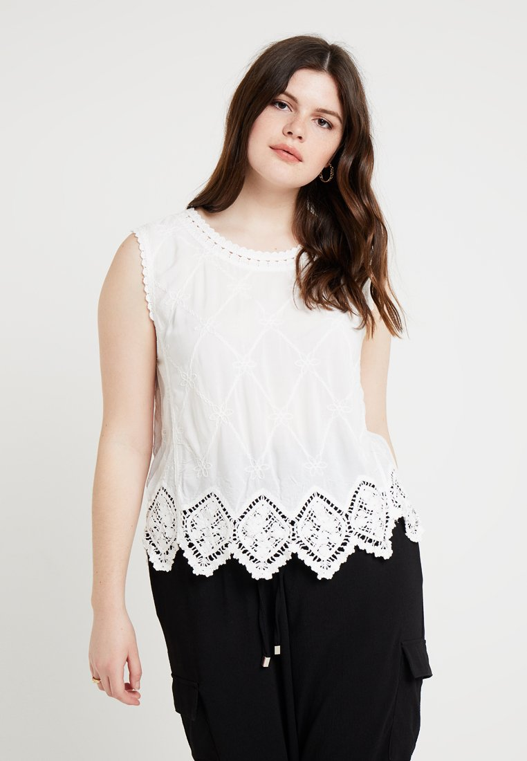 New Look Curves - LEXIE SHELL - Blouse - winter white