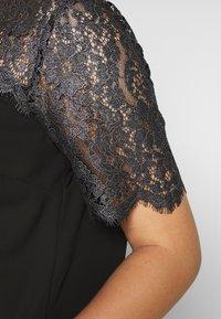 New Look Curves - CURVES LUREX LACE TOP - Blouse - black - 5