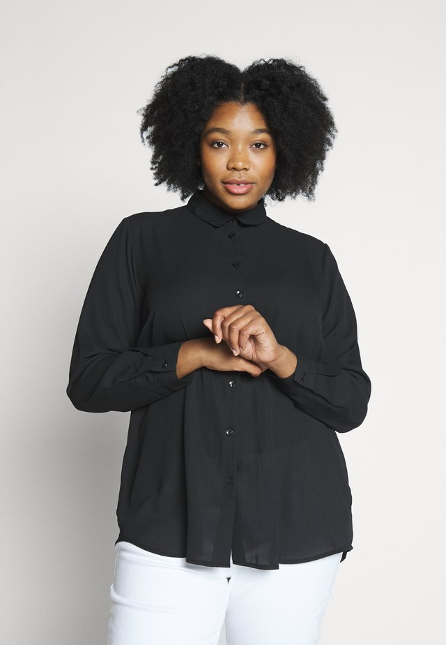 PLAIN - Button-down blouse - black