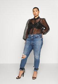 New Look Curves - SPOT BALLOON - Camisa - black - 1