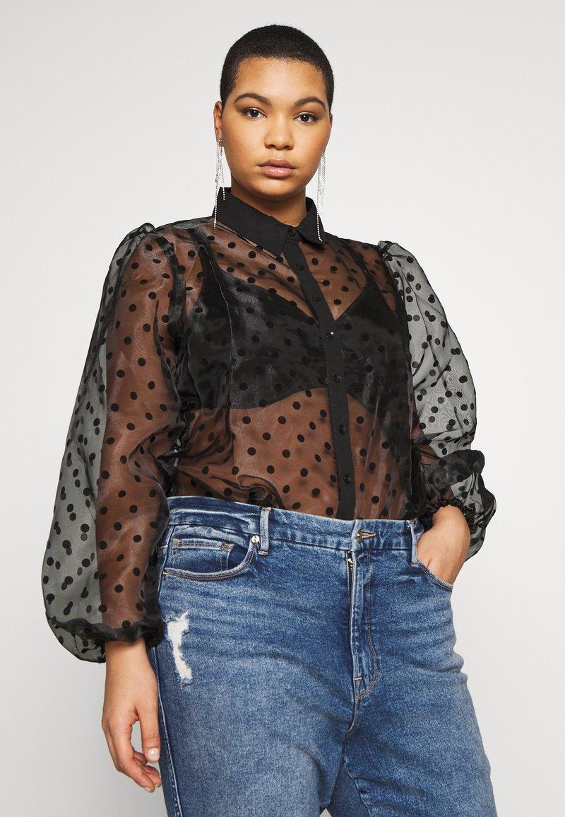 New Look Curves - SPOT BALLOON - Camisa - black