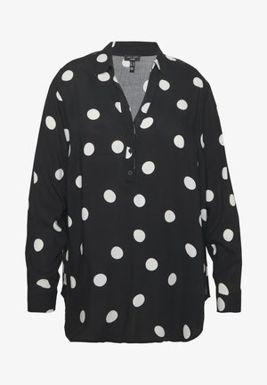 PRINT OHEAD - Button-down blouse - black