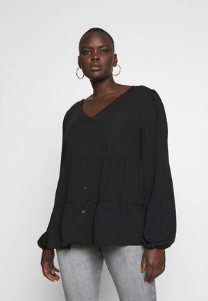 BROOKE TIERED BUTTON THU - Blusa - black
