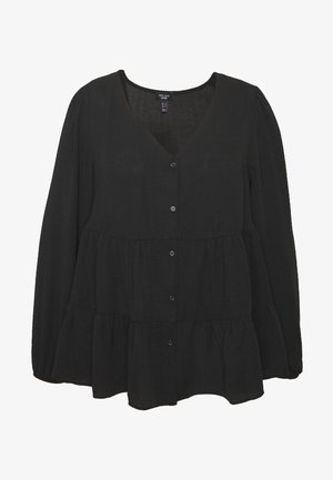 BROOKE TIERED BUTTON THU - Blouse - black