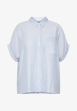 JAKE STRIPE POCKET - Chemisier - blue