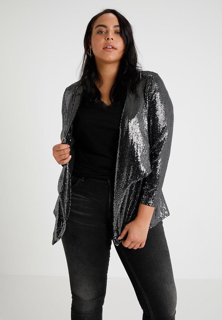 New Look Curves - SEQUIN - Blazer - black