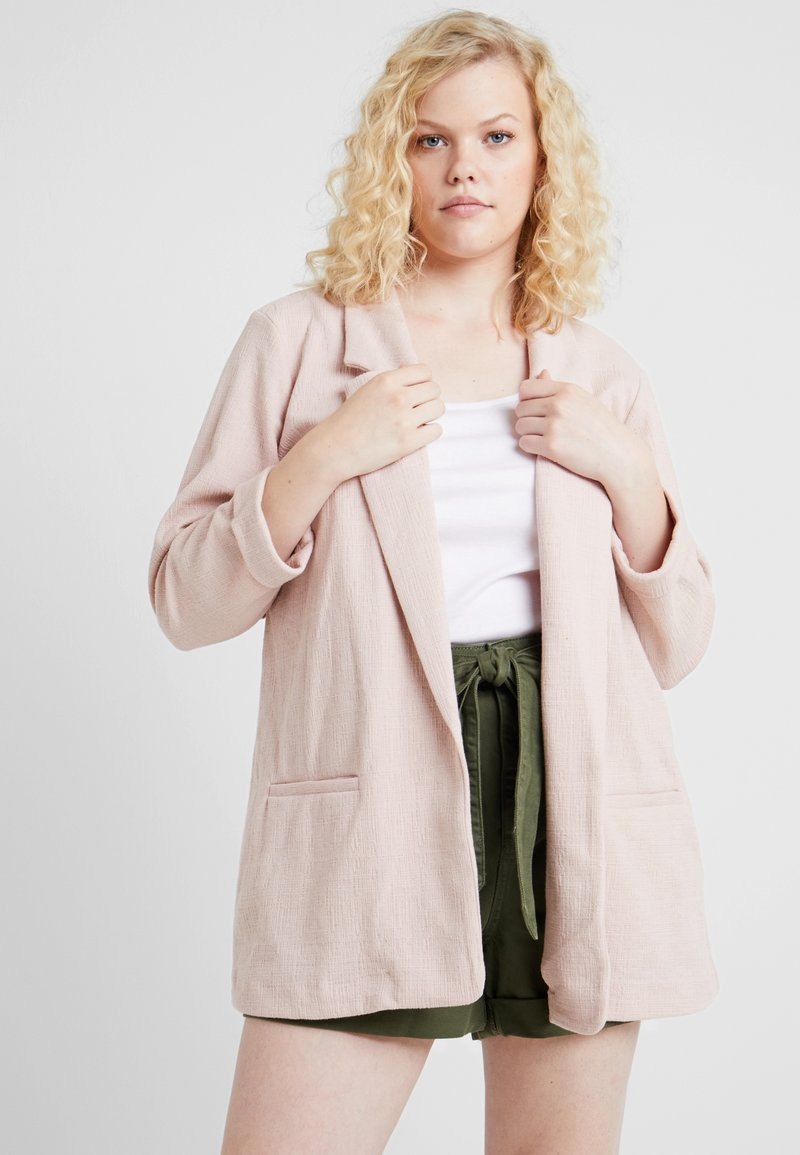 New Look Curves - CROSS STRETCH - Cappotto corto - dark pink