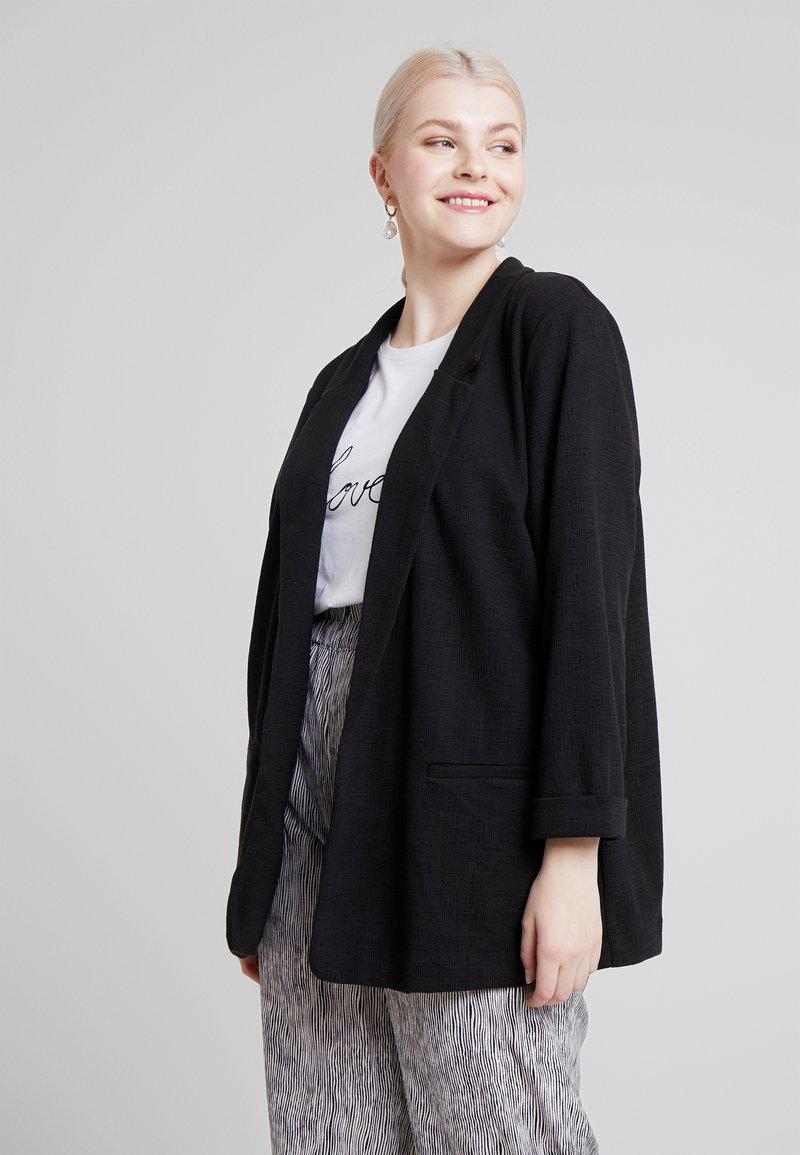 New Look Curves - CROSS STRETCH - Cappotto corto - black