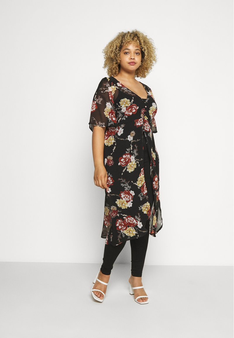 New Look Curves - TALLULAH KIMONO - Summer jacket - black