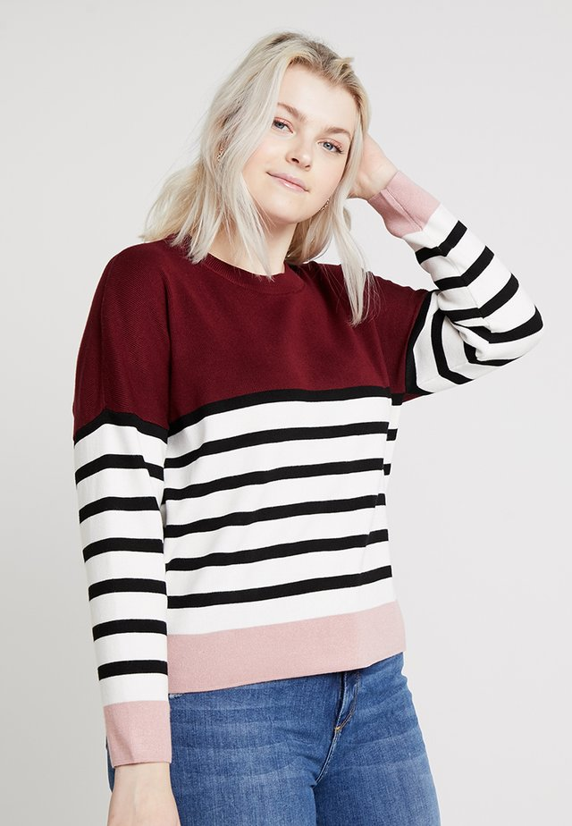 MARIE CLEAN COLOUR BLOCK JUMPER - Jumper - red
