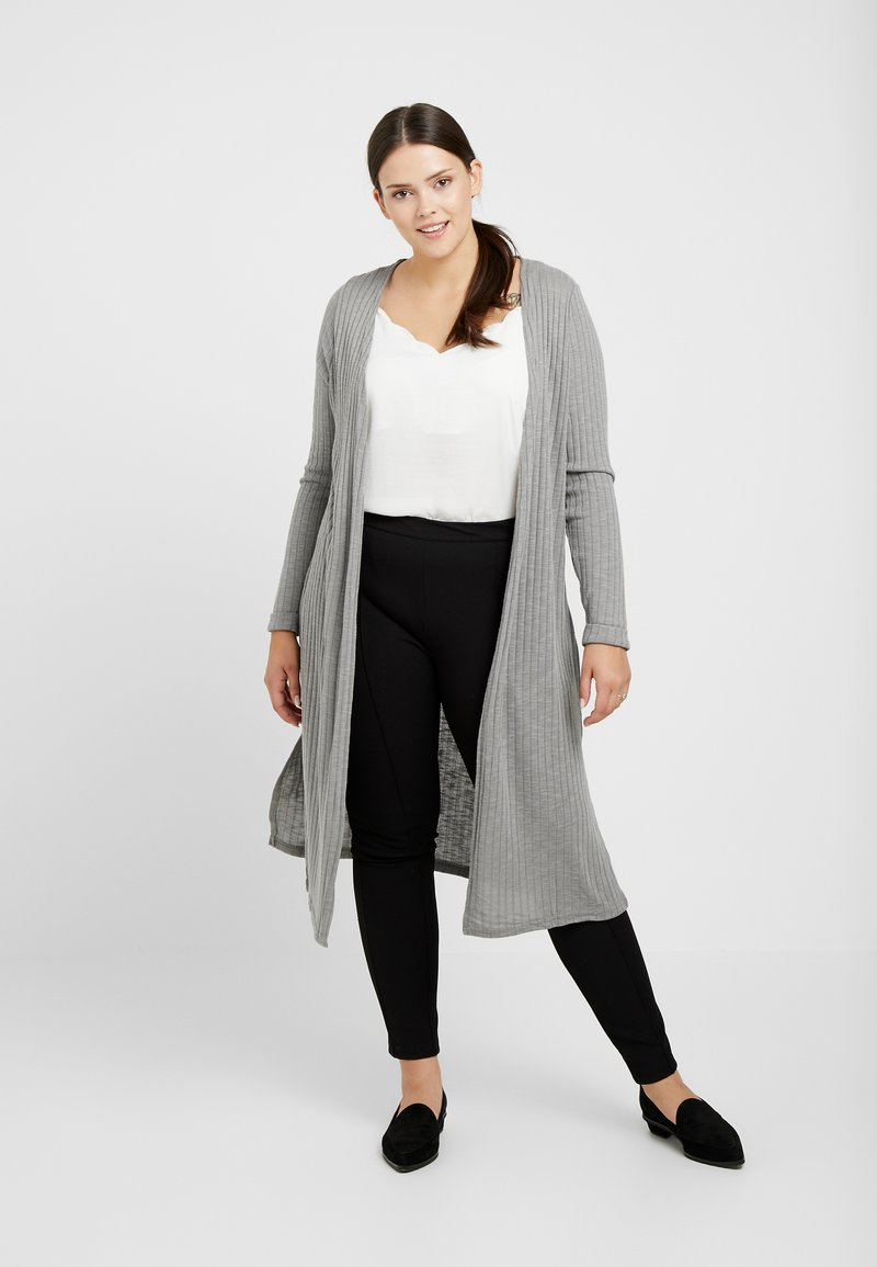 New Look Curves - CARDI - Chaqueta de punto - grey