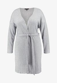 New Look Curves - SELF BELT CARDI - Vest - light grey - 4