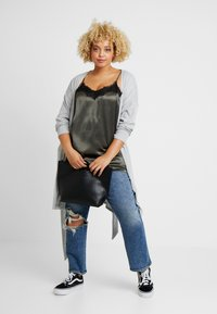New Look Curves - SELF BELT CARDI - Vest - light grey - 1