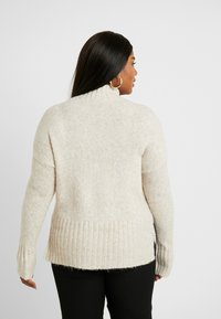 New Look Curves - FUNNEL NECK SIDE SPLIT JUMPER - Neule - oatmeal - 2