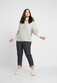 New Look Curves - CREW NECK BOXY JUMPER - Pullover - light grey - 1