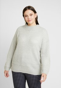 New Look Curves - CREW NECK BOXY JUMPER - Pullover - light grey - 0