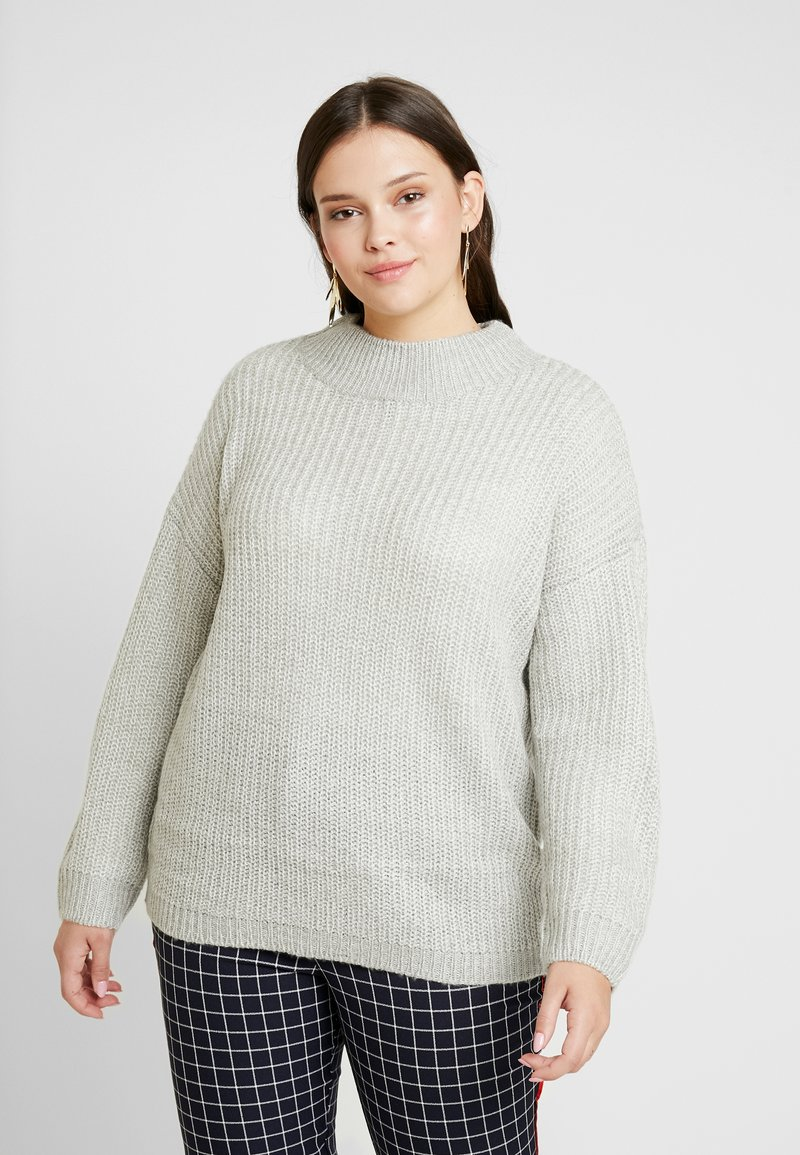 New Look Curves - CREW NECK BOXY JUMPER - Pullover - light grey