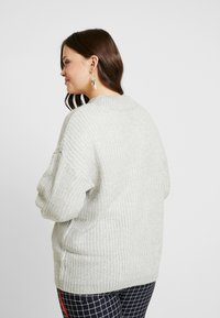 New Look Curves - CREW NECK BOXY JUMPER - Pullover - light grey - 2