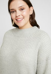 New Look Curves - CREW NECK BOXY JUMPER - Pullover - light grey - 4