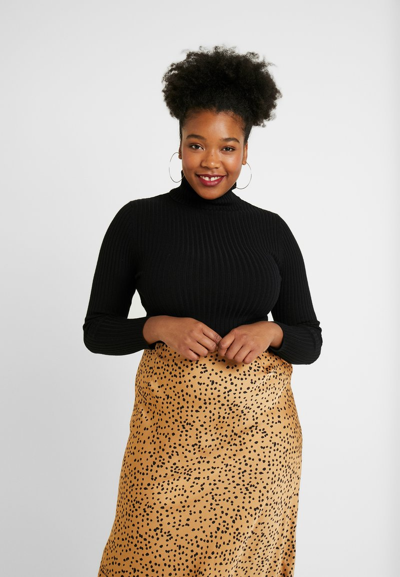 New Look Curves - ROLL NECK - Maglione - black