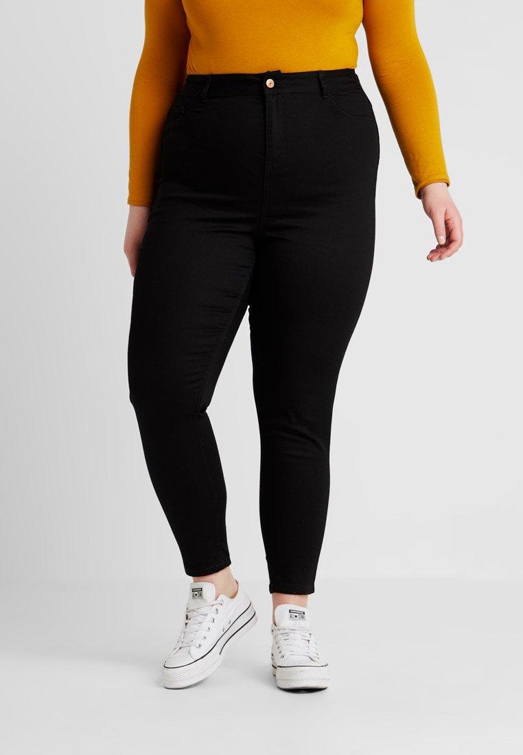New Look Curves - CURVES DISCO RIPPED - Skinny džíny - black