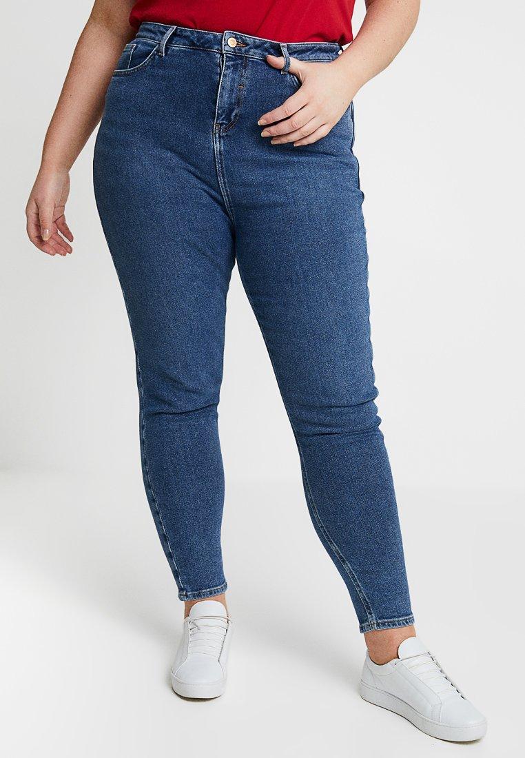 New Look Curves - SLIMMOM - Jeans Slim Fit - mid blue