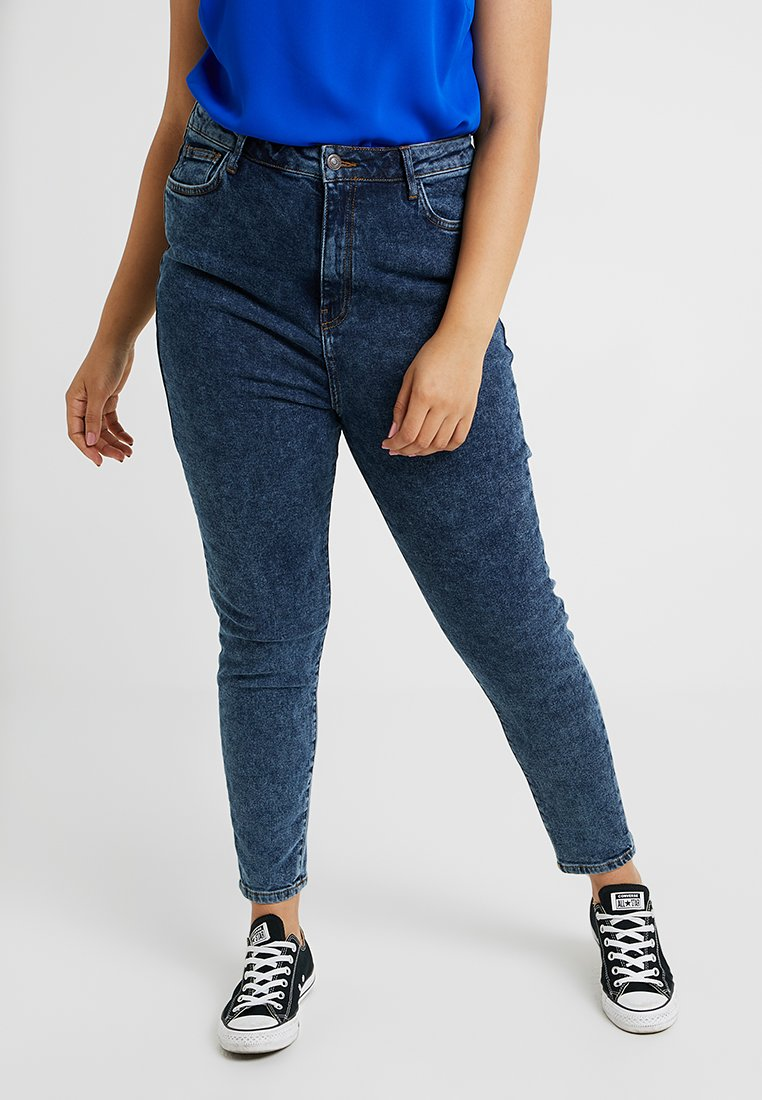 New Look Curves - EXTREME ACID MOM  - Jeans baggy - blue