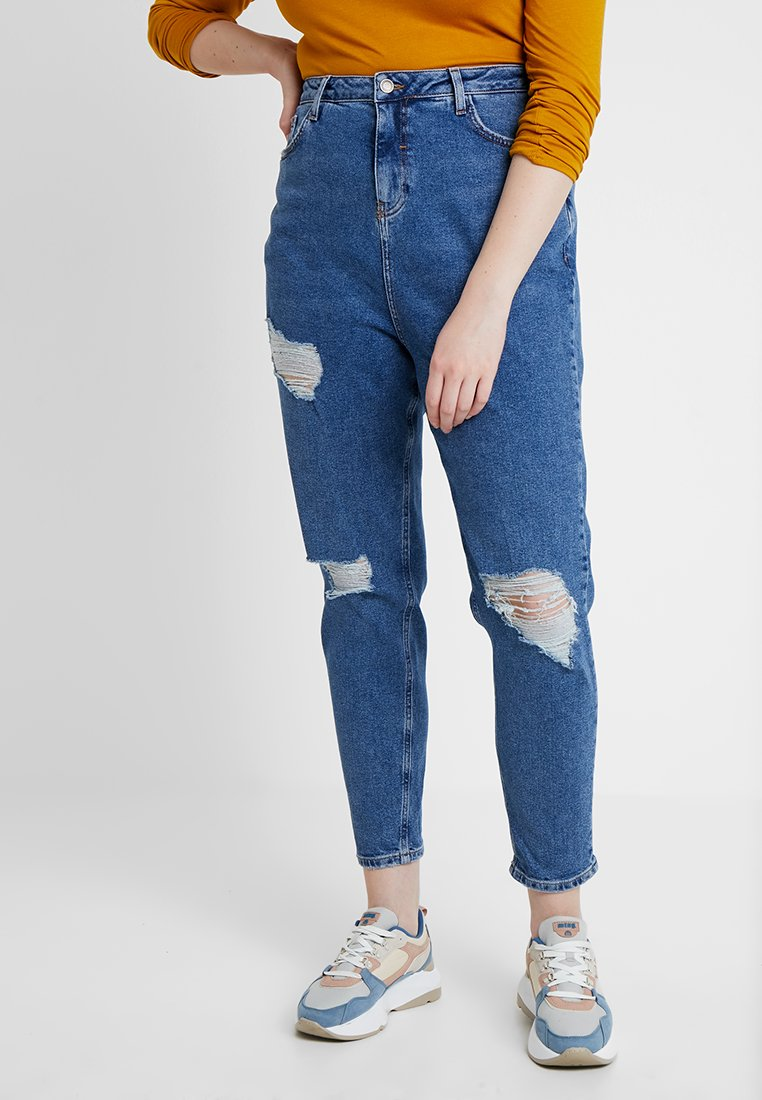 New Look Curves - MULTI CHICAGO MOM - Relaxed fit jeans - mid blue