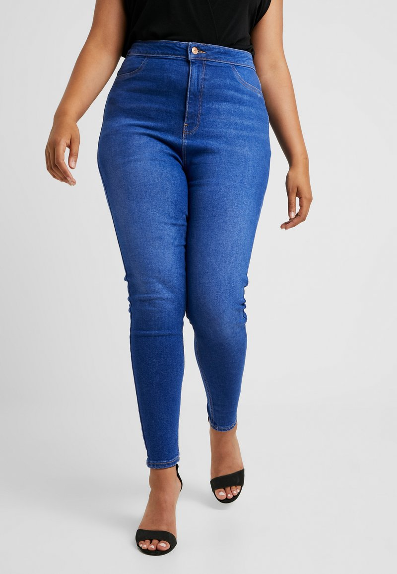 New Look Curves - DISCO BROMO - Jeans Skinny Fit - blue