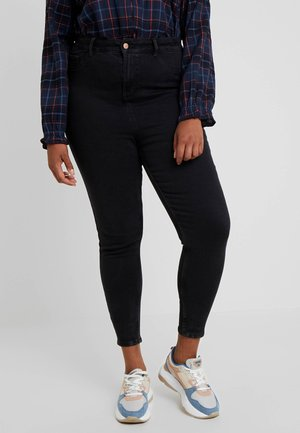 HALLIE DISCO - Skinny-Farkut - washed black