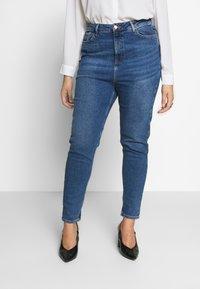 New Look Curves - WAIST ENHANCE MOM - Džíny Straight Fit - mid blue - 3