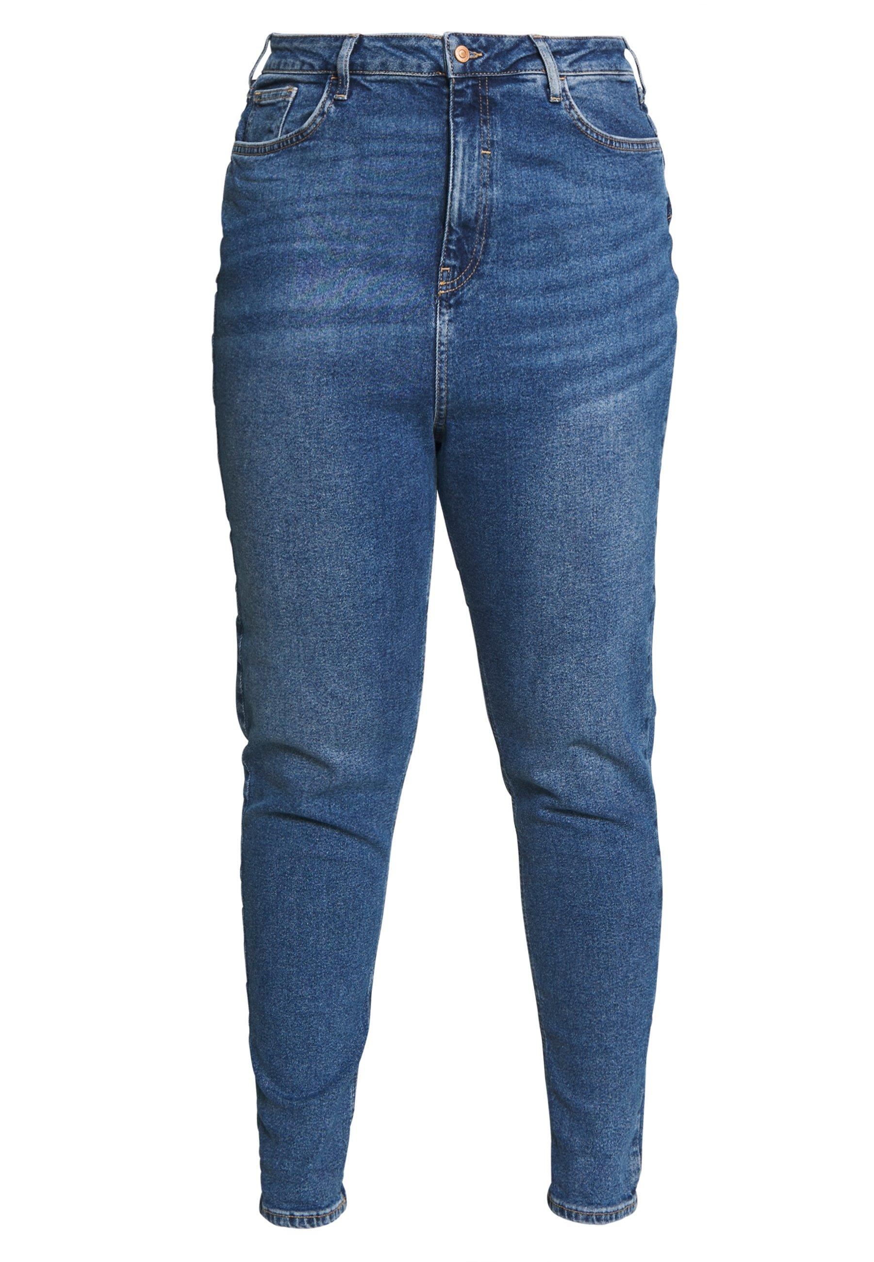 New Look Curves WAIST ENHANCE MOM - Jeansy Straight Leg - mid blue