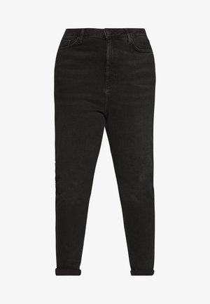 WAIST ENHANCE MOM - Jeans straight leg - black